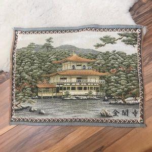 Vintage Small Japanese Tapestry Kinkaku-ji